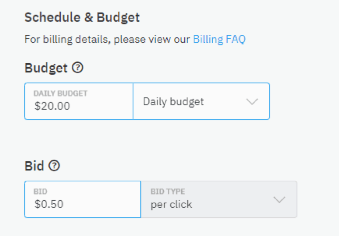 Schedule and Budget (Pay Per Click)