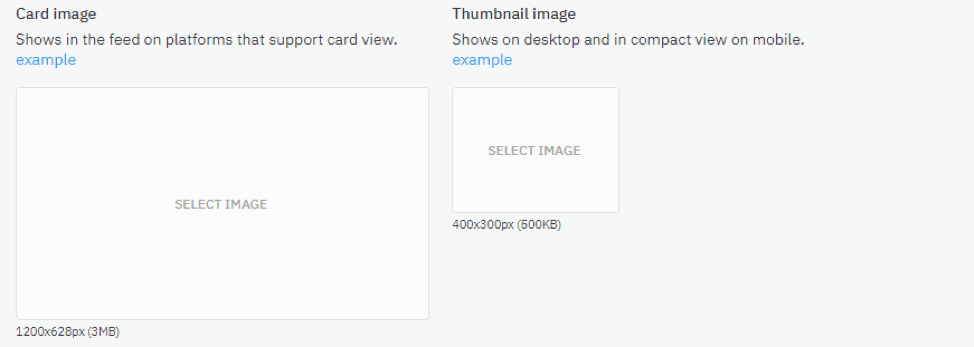 Card Image and Thumbnail Image